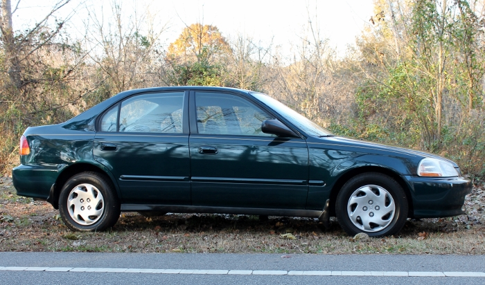 1998 Honda Civic Green Four Cylinder Gas Saver Automatic 1.6 Liter GS Auto Sales, LLC 2750 Meadow Road Clover SC 29710 (3)