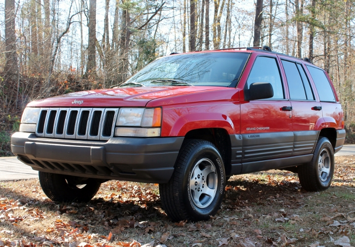Red 1998 Jeep Grand Cherokee Laredo SUV - 2750 Meadow Road Clover SC 29710 (2)